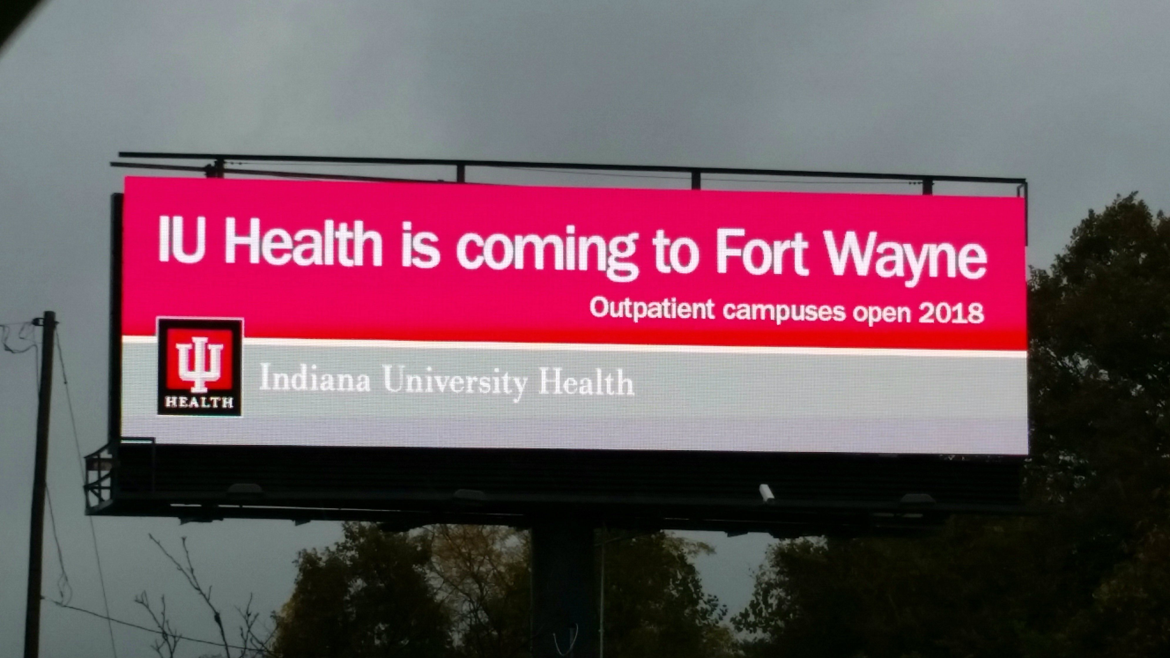 IU Health announces it is ing to Fort Wayne in 2018 Fort
